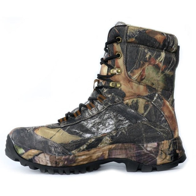 Men's Outdoor Waterproof Anti-Skid Camouflage Hiking BootsBlack High / 8