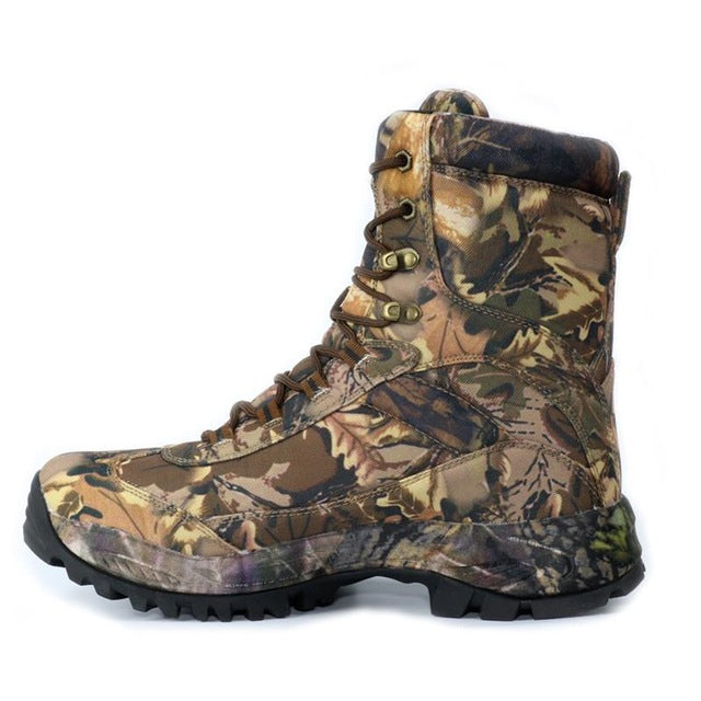 Men's Outdoor Waterproof Anti-Skid Camouflage Hiking BootsBrown High / 8