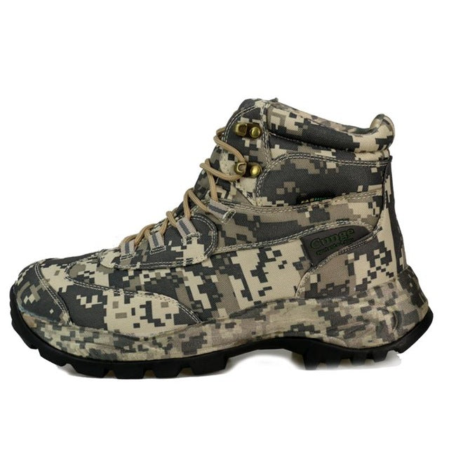 Men's Outdoor Waterproof Anti-Skid Camouflage Hiking BootsKhaki Low / 8.5