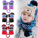Kids Thick Winter Knitted Elastic Mitten