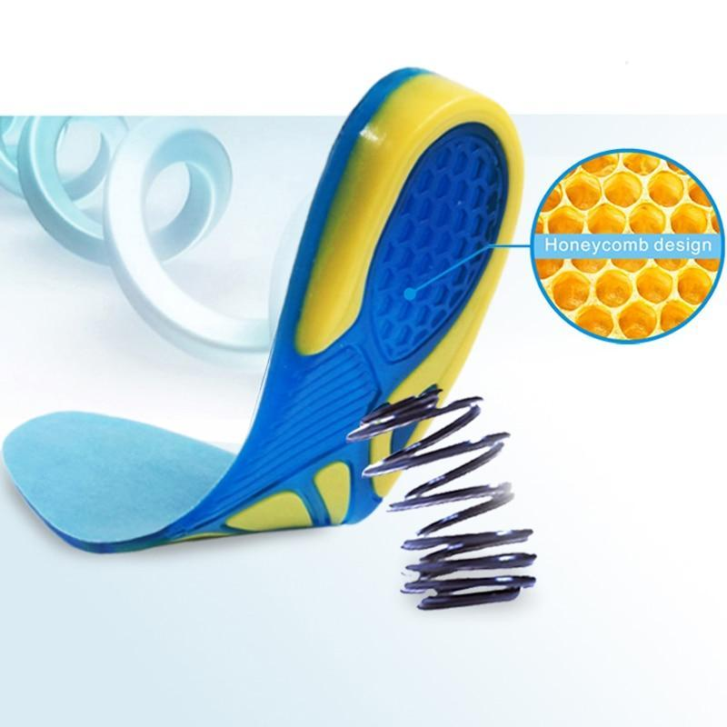 Silicone Gel Honeycomb Cushion Orthopedic Heel Insoles