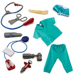 11 Pcs Doctor Dress Up Role Play Costume with Props