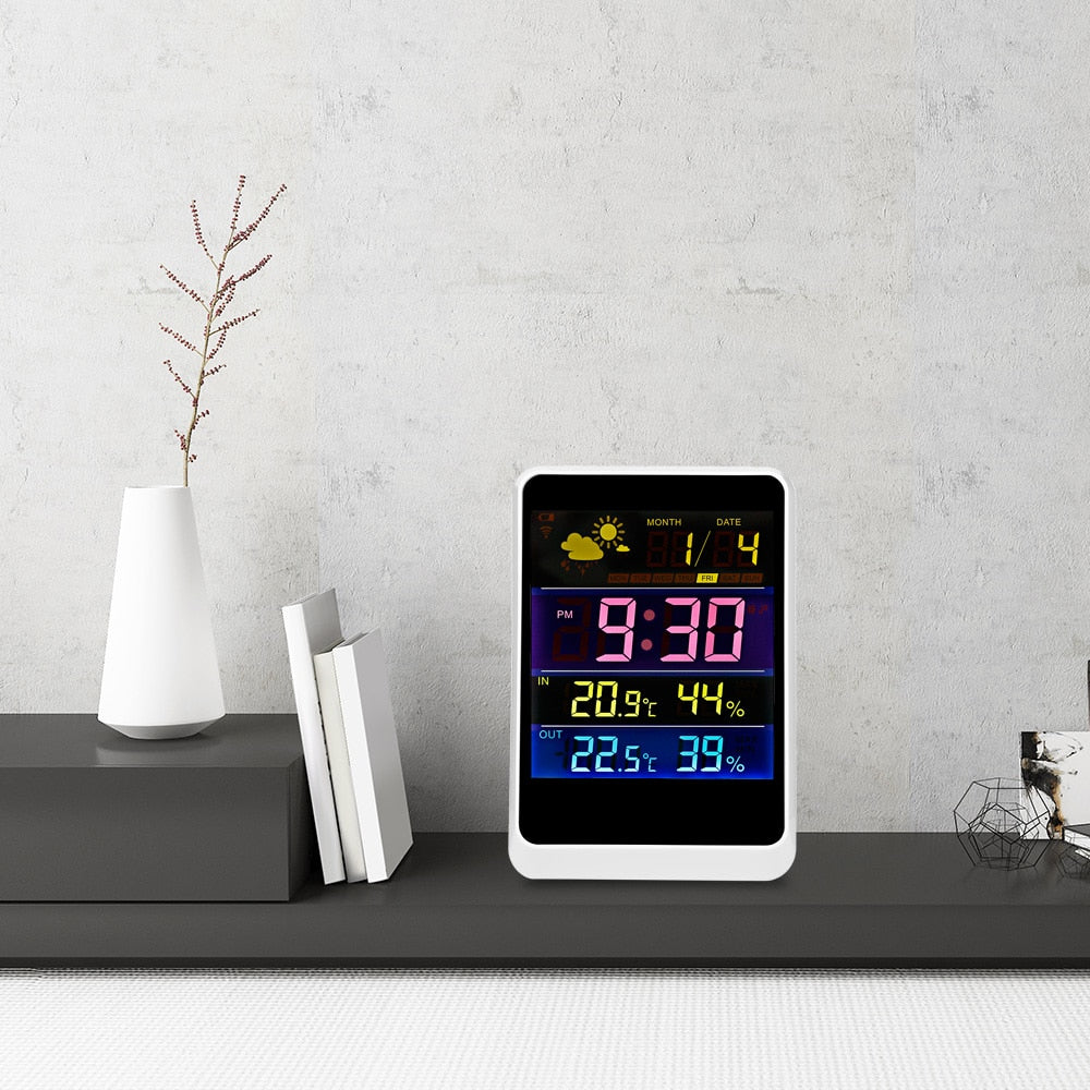 Indoor and Outdoor Colorful LCD Display Weather Forecast Station