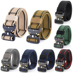 Men's Heavy Duty Tactical Nylon Quick Release Metal Buckled Belt