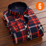 Men's Thick Fleece Lined Casual Button-Up Flannel
