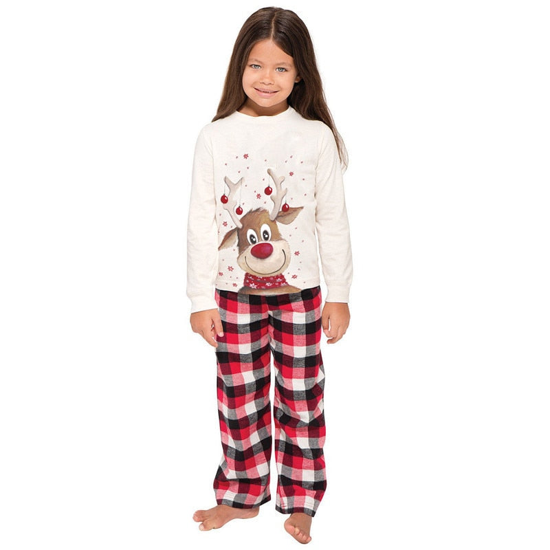 Matching Family Reindeer Christmas Pajama Set