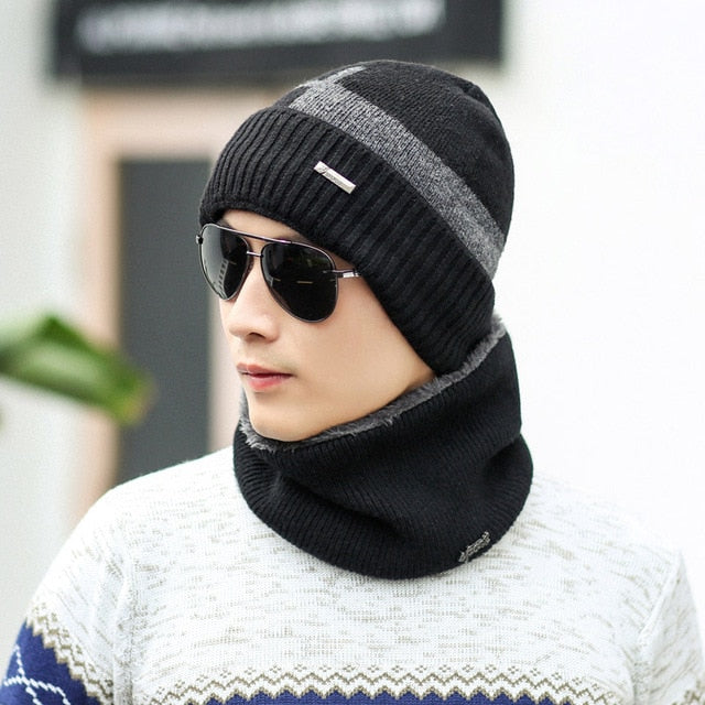 Unisex Knitted Full Face Coverage Fleece Lined Beanie and Scarf Was: $54.99 Now: $24.99 and Free Shipping.
