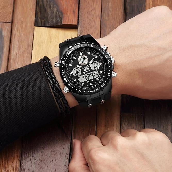 Men's Waterproof LED Military Quartz Wrist Watch