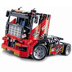 2-in-1 Transformable Race Car to Fire Truck Building Blocks Set - 608 Pieces