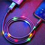Volume Control Dancing LED USB Fast Charge iPhone Cable