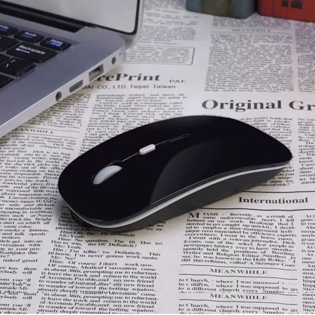 Rechargeable Quiet Click Slim Wireless Mouse