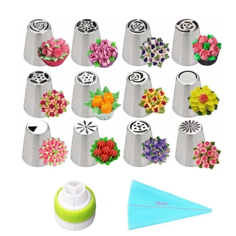 14pc/Set Russian Tulip Cupcake & Cake Decorating Tools