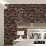 Vintage Rustic Stone Brick Background 3D Wallpaper
