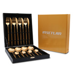 16 Piece: High-End Stainless Steel Dinnerware Set - 11 Colors