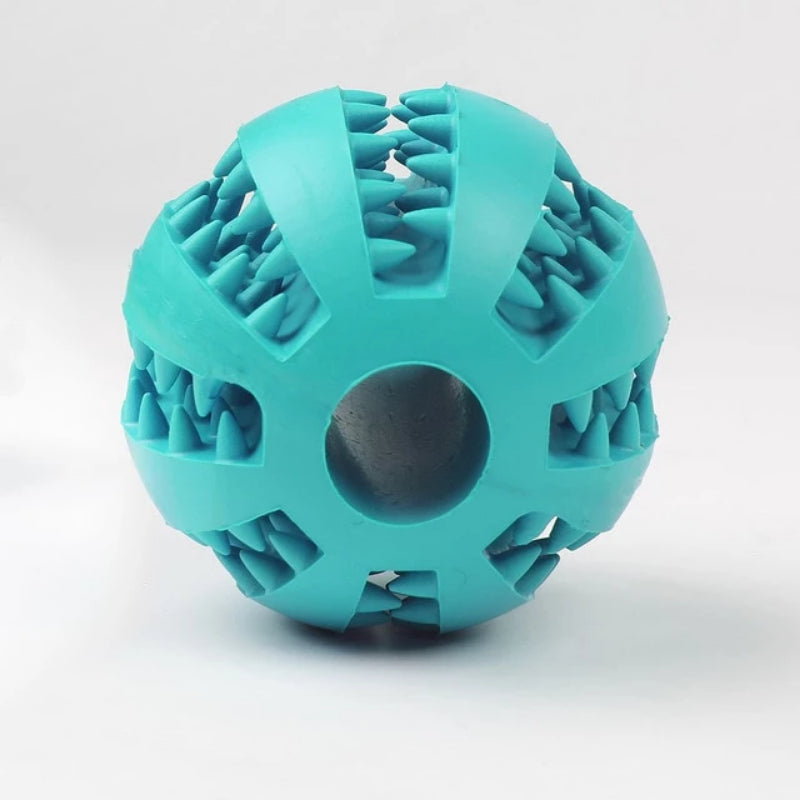 Cyan Pet Extra-Tough Rubber Ball Chew Toy