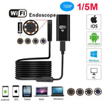 720P Soft-Wire WiFi Waterproof Endoscope Inspection Camera
