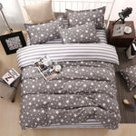 Spring Classic Cotton Soft Duvet Cover Set