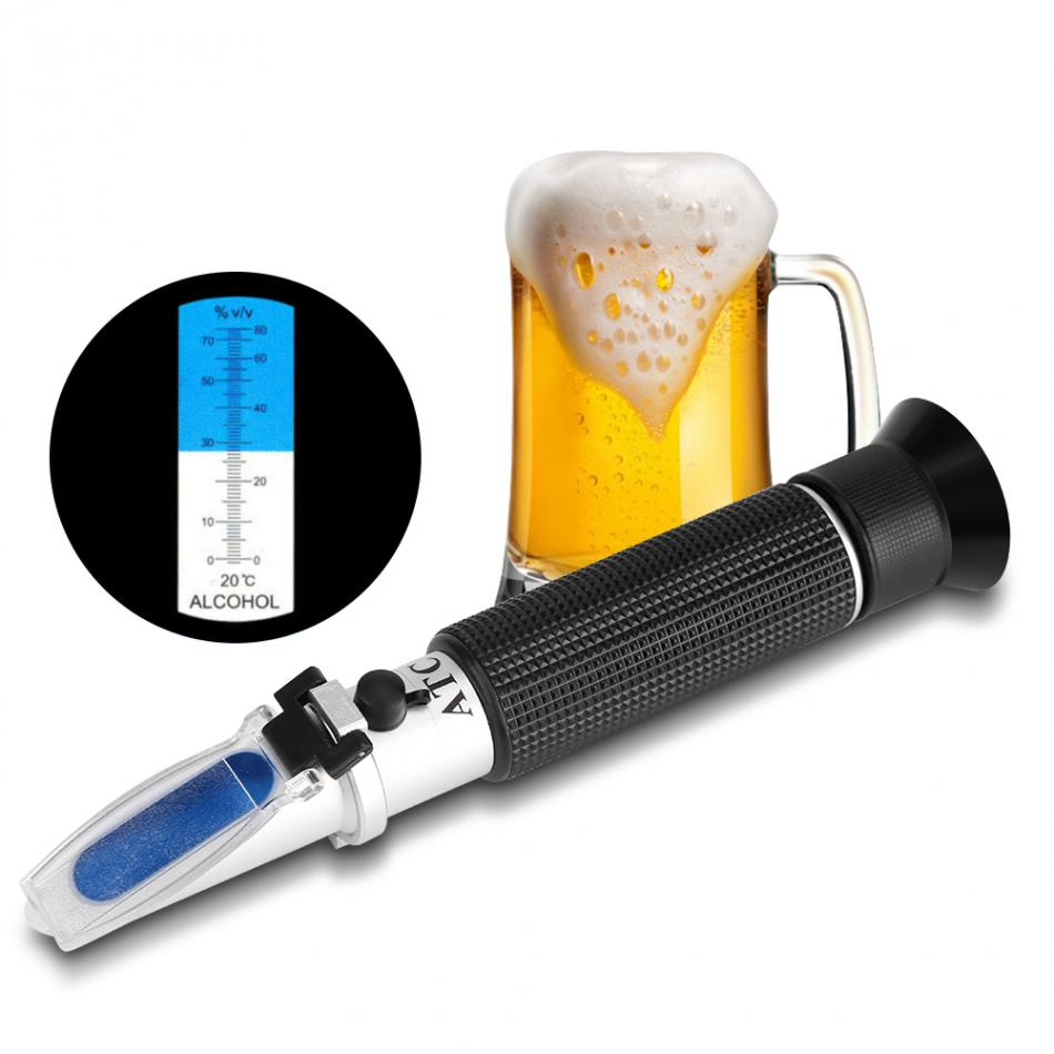 Professional Handheld Alcohol 0-80% Test Refractometer