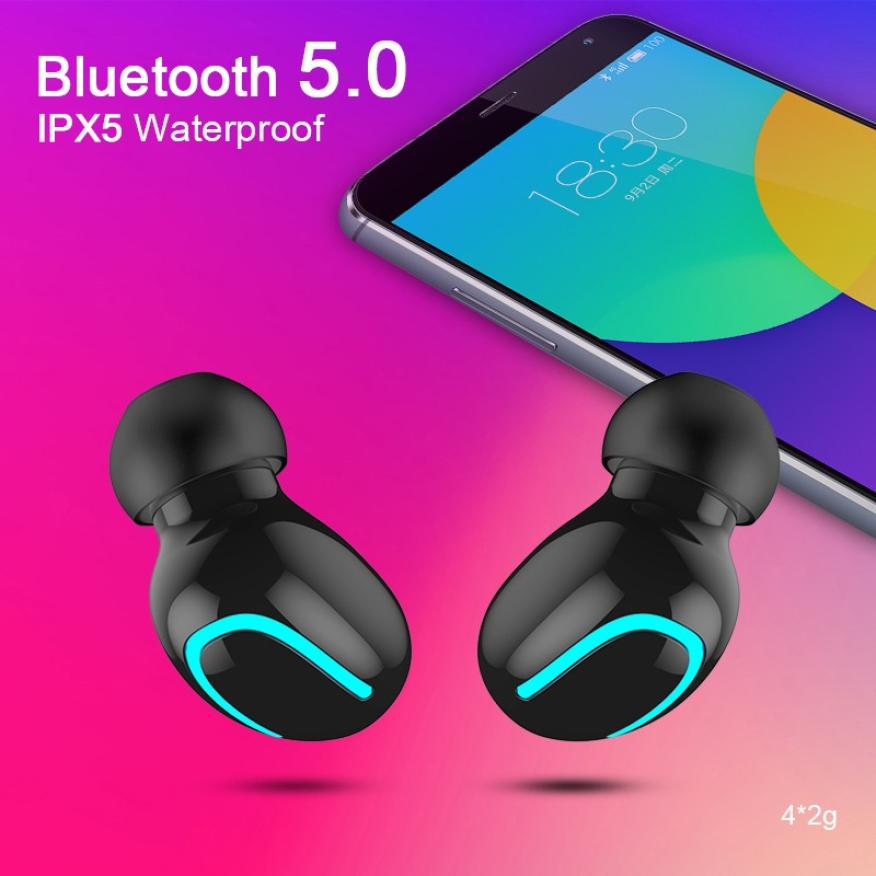Bluetooth 5.0 IPX5 Waterproof Handsfree Earbuds with Free Charge Box