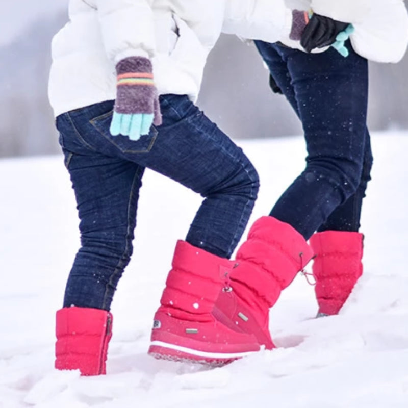 Women's Classic Mid Calf Plush Fur Winter Boots