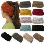 Women's Knitted Ponytail Beanie Hat