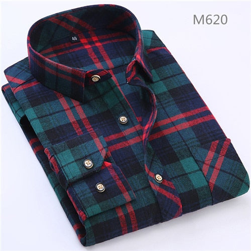 Men's Casual Plaid Cotton Flannel