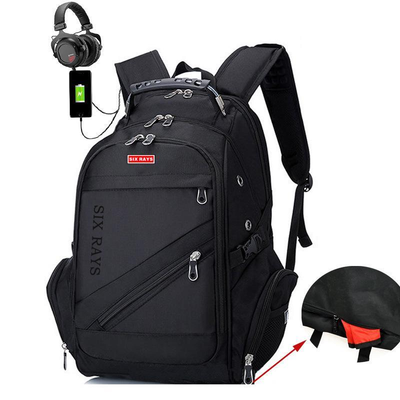 "Oxford Swiss USB Charging Waterproof 17"" Backpack"