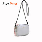 Women's Leather Flap Messenger Bags Double-Side Shoulder Bag Purse