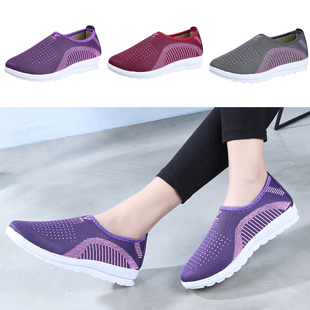 Women's Mesh Comfort Slip-On Walking Sneakers