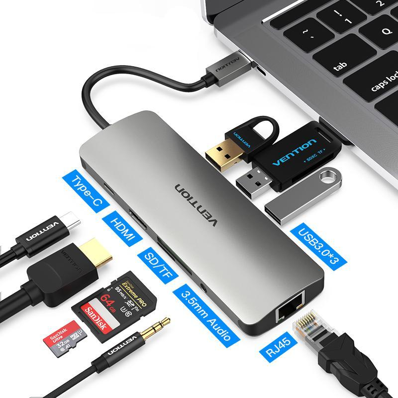 Multi-Purpose Thunderbolt Type C to USB Hub Adapter