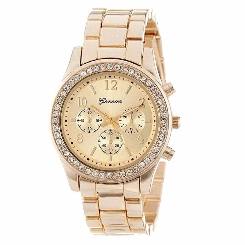 Women's Quartz Stainless Steel Three Eyes Watch