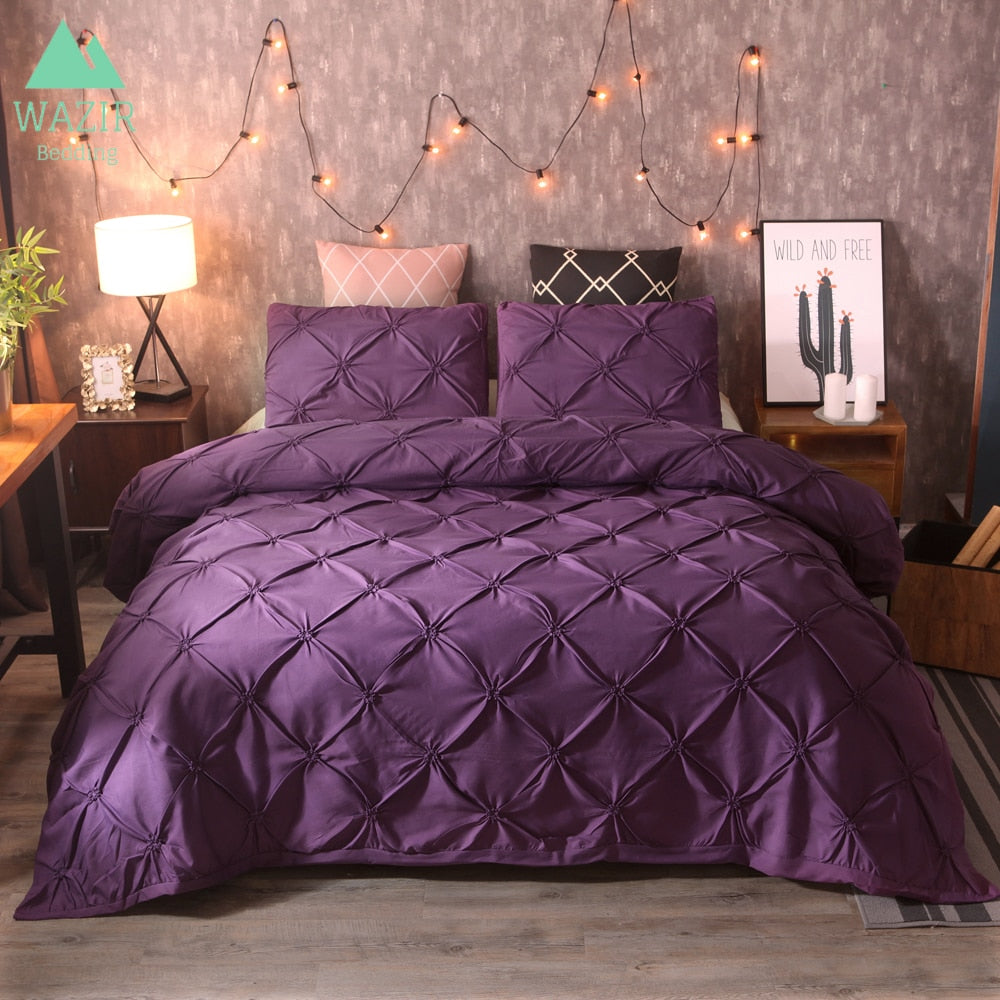 Luxurious Pinch Pleat Duvet Cover Bedding Set