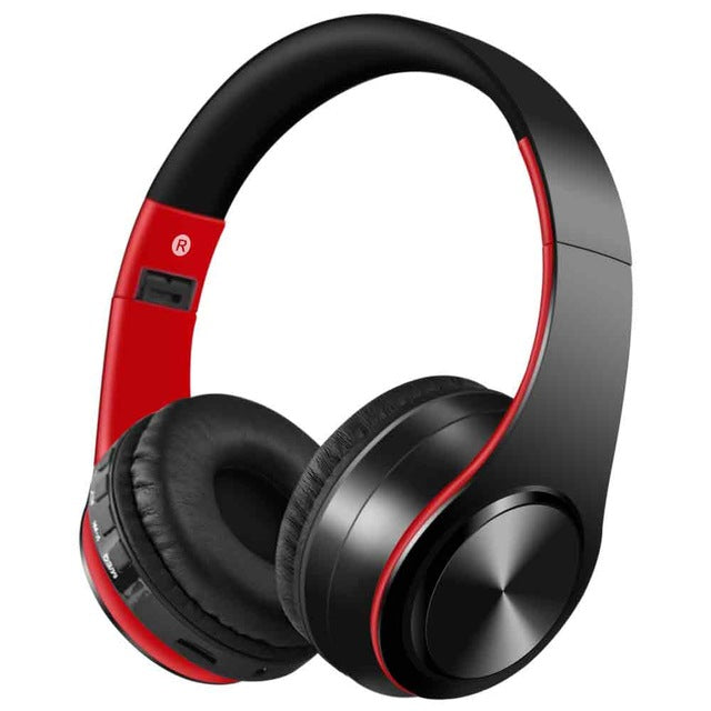 Wireless Bluetooth Foldable Hi-Def Headphones with Microphone
