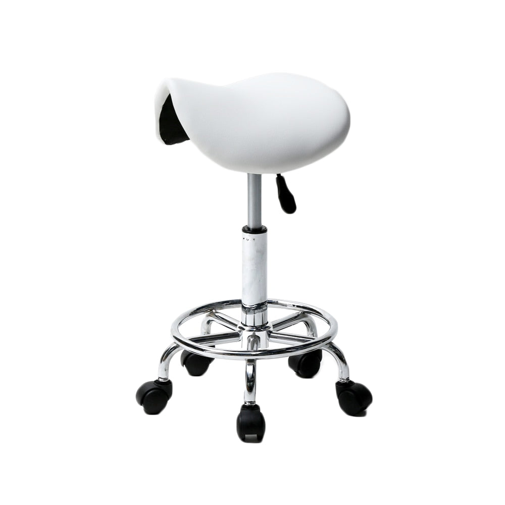 Modern Hydraulic Adjustable Swivel Saddle Rolling Stool