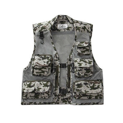 Lightweight Quick-Dry Multi-Pocket Mesh Fisherman's Vest