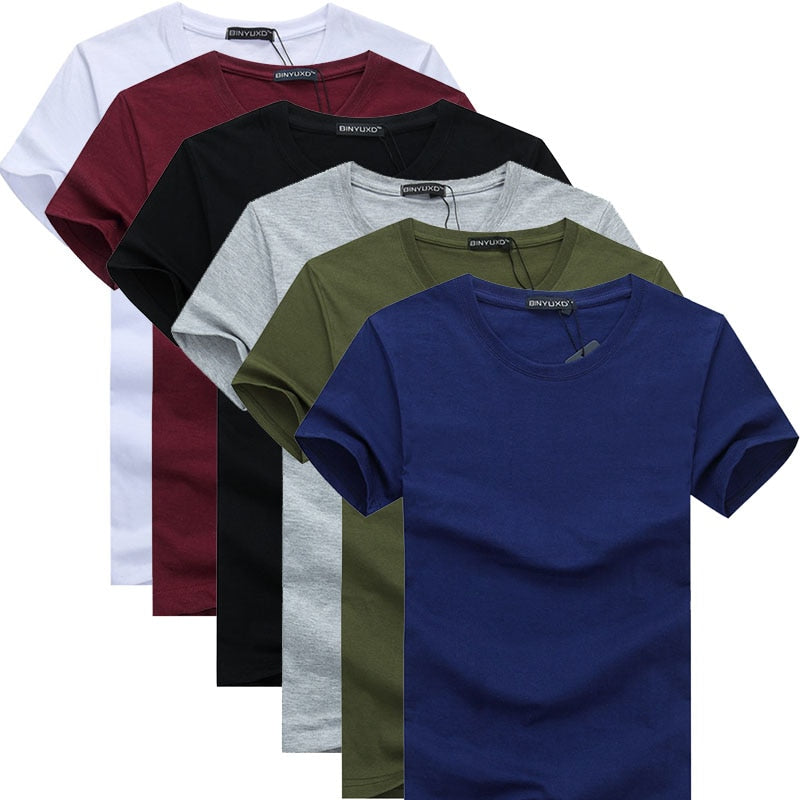 6 Pack: Men's Casual MaxComfort Cotton T-Shirts