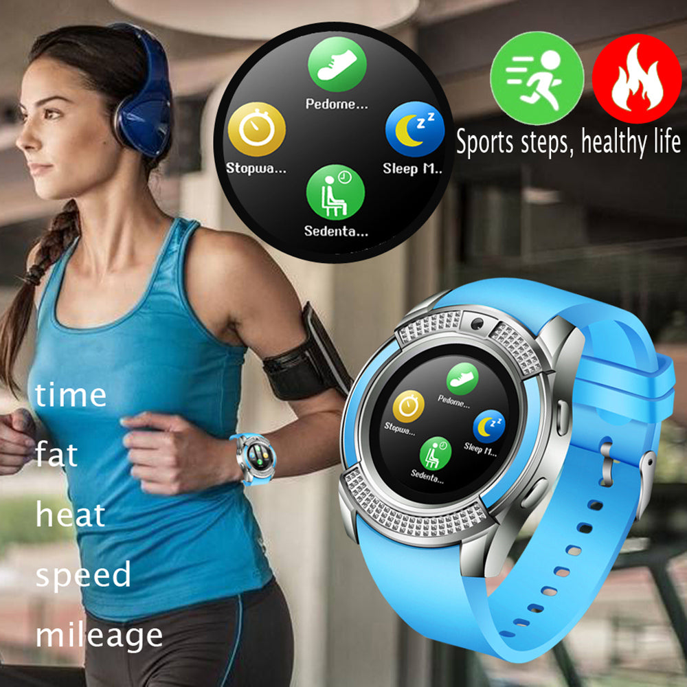 V8 Bluetooth Touch Screen Waterproof SmartWatch with Camera