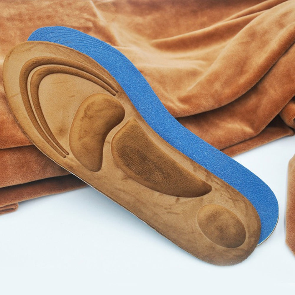 Brown 4D Orthopedic Memory Foam Arch Support Insoles