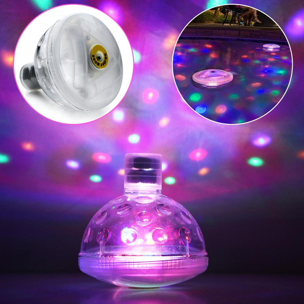 Floating Waterproof Underwater LED Disco Pool Light