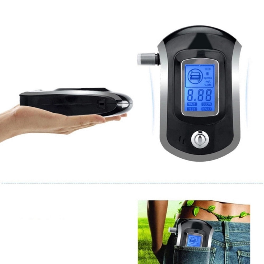 AT6000 Digital LCD Display Alcohol Breathalyzer Test Machine