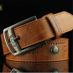 Men's Leather Belt with Rivets