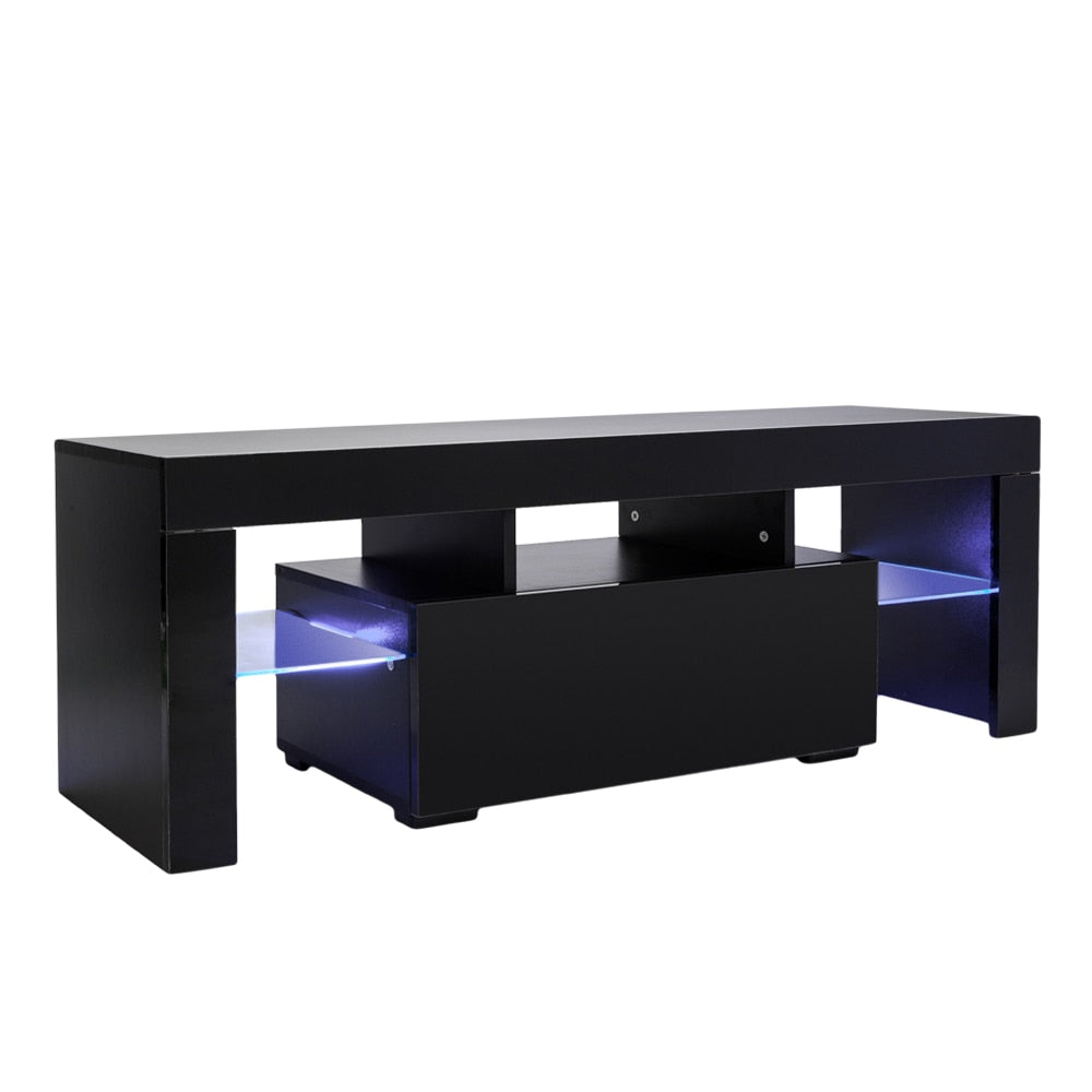 TV Cabinet Shelving Stand with LED Lights