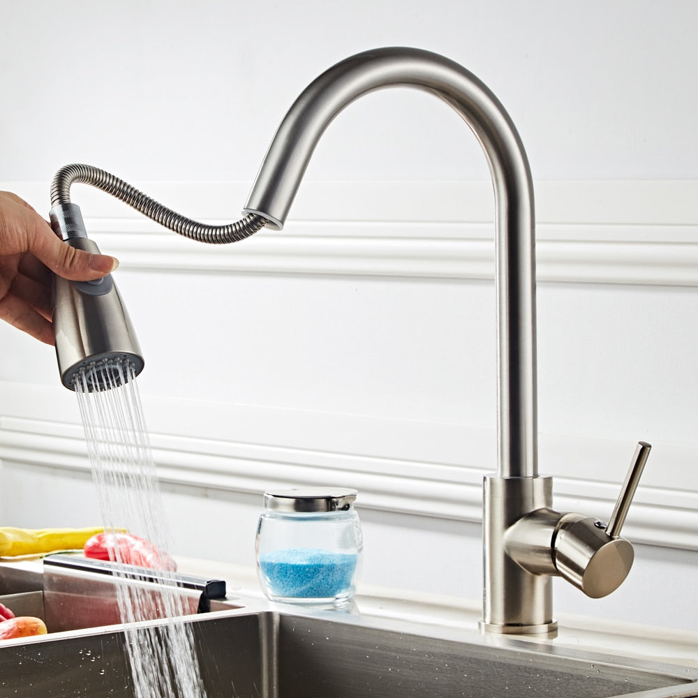Swivel Spring Extendable 2-Mode Sink Faucet