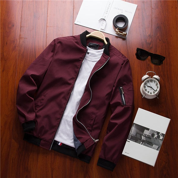 Men's Casual Slim Fit Bomber Jacket
