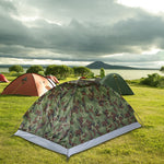 Ultralight Single Layer Water Resistant 2 Person Camping Tent with Carry Bag