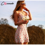 Women's Casual Floral Print Mini Beach Sundress