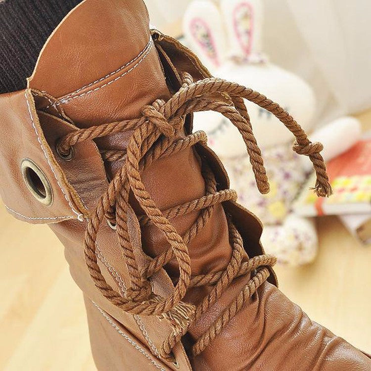 winter new women Casual ankle boot female fashion casual snow boots lace up stitching Martin boots tide Footwear