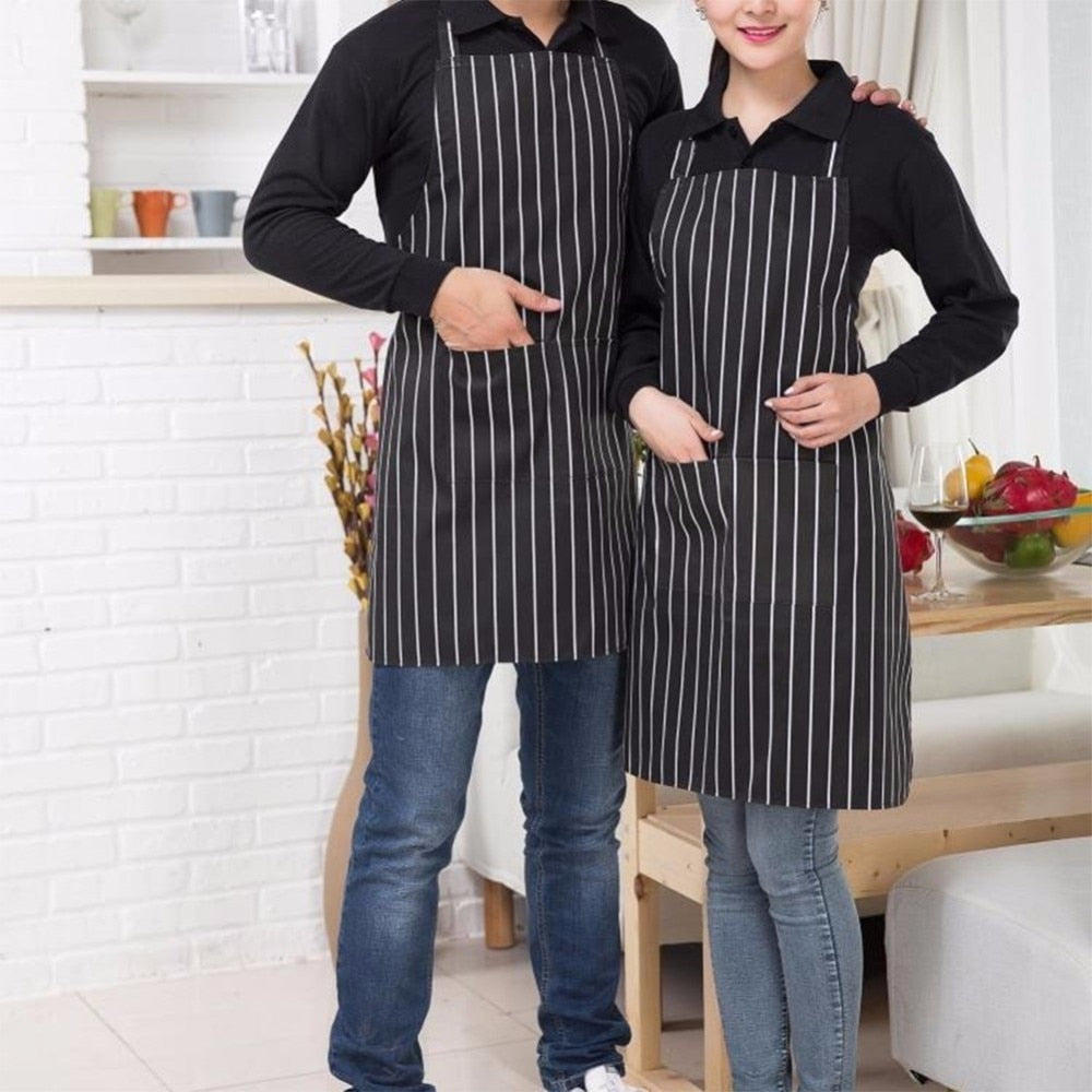 Adult Adjustable Half-Length Apron With 2 Pockets