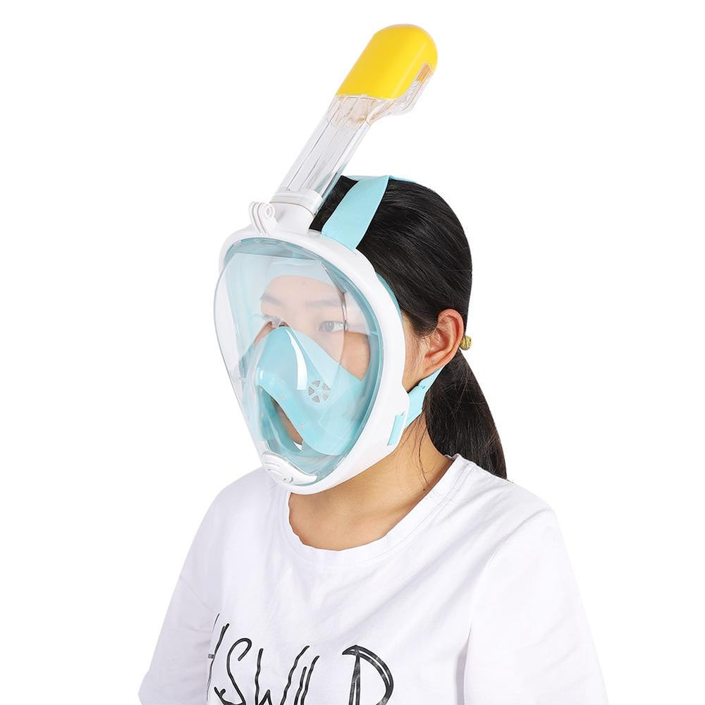 Scuba-Gear Snorkel Mask - Full Face -  Adults, Teens & Kids - Panoramic View