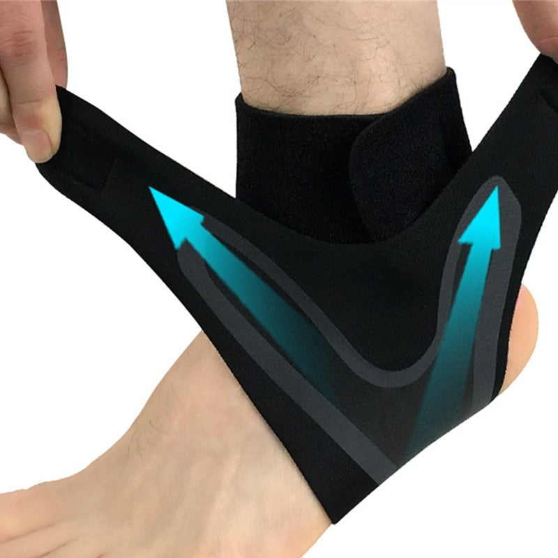 Adjustable Breathable Elastic Heel Wrap Sleeve Ankle Support Brace